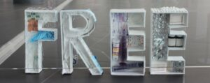 3D model of the word Free