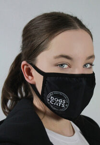Bex models charity face covering